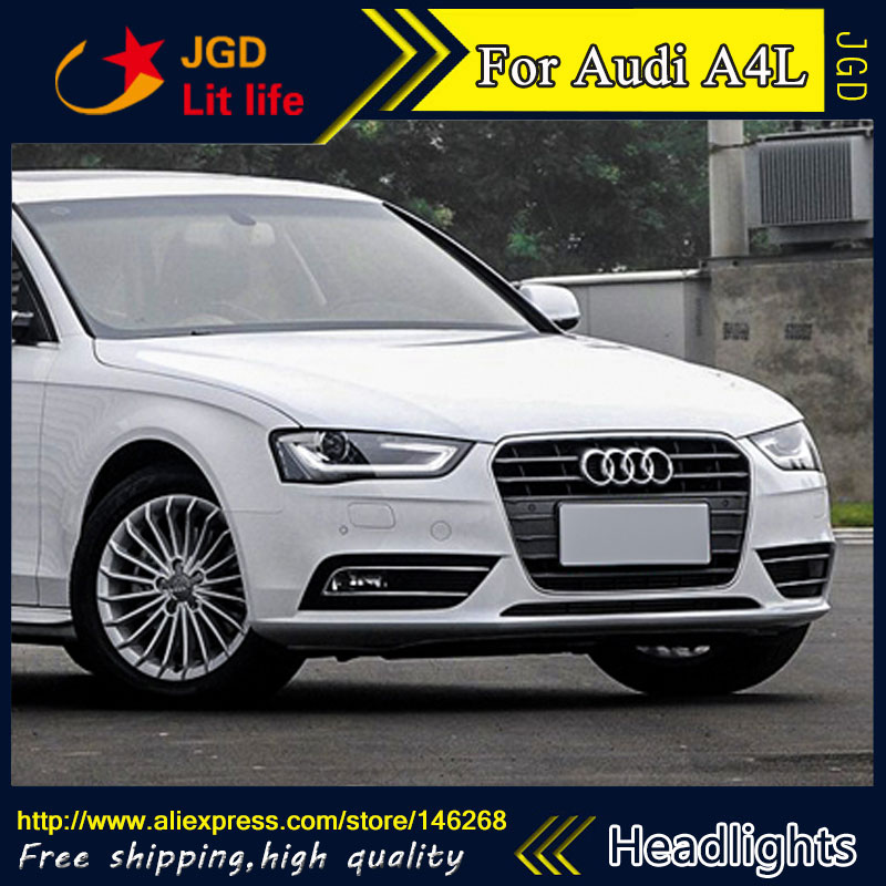 Free shipping ! Car styling LED HID Rio LED headlights Head Lamp case for Audi A6L 2013-2016 Bi-Xenon Lens low beam