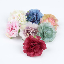 Trail Order 7pcs/lot 2.4 Artificial Peony Flower For Hair Accessories Plastic Flowers Wedding Party Home Shop Garden Decor