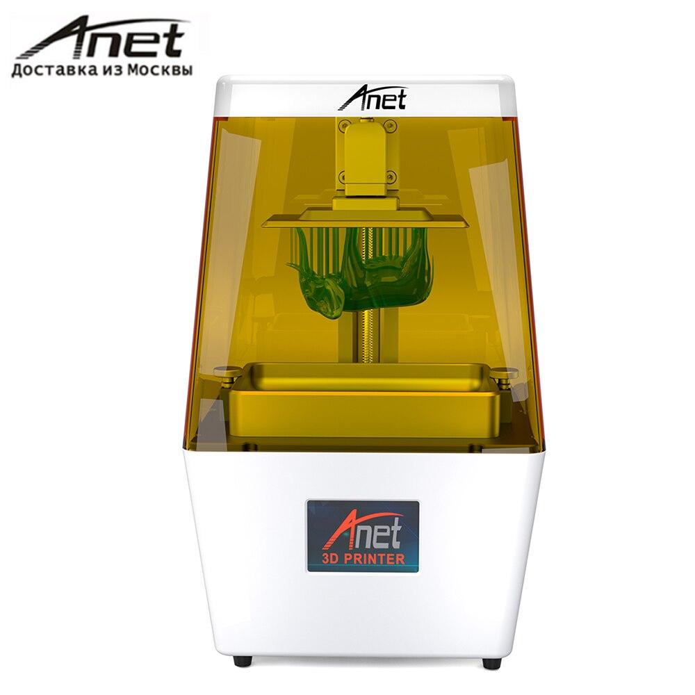 Anet N4 UV LCD SLA 3D Imprimante/expédition de Moscou/2 K HD 3.5 Pouces Smart Couleur Écran Tactile U Disque Hors-ligne D'impression