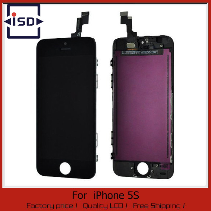10PCS LOT Replacement Touch Screen LCD Display Digitizer Frame Full Set Assembly for iPhone 5S Fast