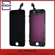 10PCS/LOT Replacement Touch Screen + LCD Display Digitizer + Frame Full Set Assembly for iPhone 5S & Fast DHL Shipping