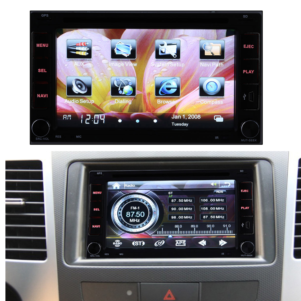 Autoradio Cassette Recorder Automagnitola 2 Din Touch Screen Car DVD Player for Volkswagen Polo Toyota Golf 5 Mazda 6 Renault image