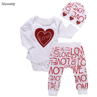 Newest 1Set Baby Kids Sweatshirt Romper Tops Long Pants Boys Girls Outfits Clothes Wholesale M
