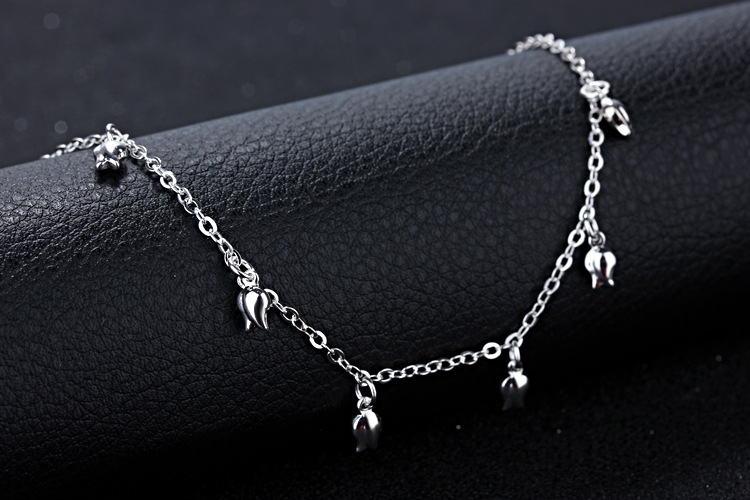 New Fashion Summer Sexy Silver Rose  Anklet for women  Pendant Chain Ankle Bracelet Foot Jewelry 5