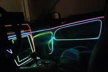 Красочный Гибкая EL Провода Внутреннего Холодного Неоновый Свет для Автомобилей/Украшение Партии 5 м Электролюминесцентный Автомобиля аксессуары Горячей Продажи
