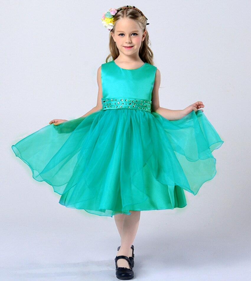 2018 summer big girls formal princess dresses children party wedding ...