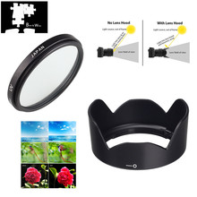 49mm UV Filter EW 53 Lens Hood for Canon EOS M5 M6 M10 M50 M100 M200 with EF M 15 45mm f/3.5 6.3 IS STM Lens