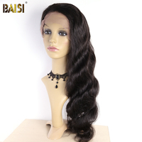 BAISI Brazilian Body Wave Natural Hairline Top Lace Wig Pre plucked Lace Front Wigs Density 200%