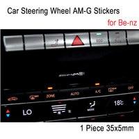 1 Piece 35x5mm Car Steering Wheel AM G Stickers Emblem Decoration Car Sound Audio Decals For