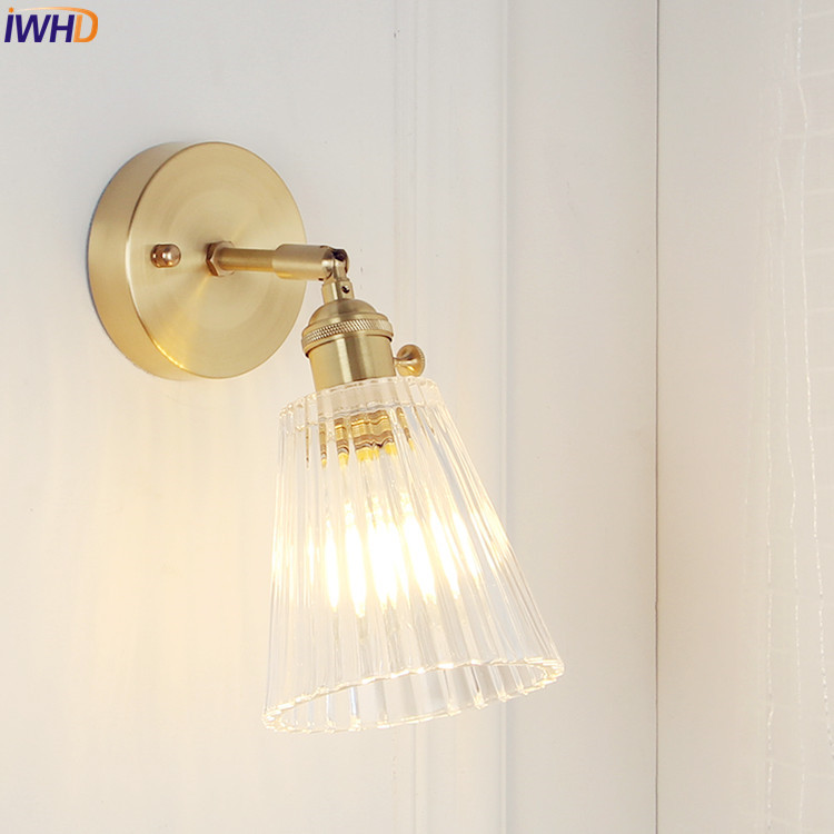 IWHD Japan Nordic Style Coppe Wall Light Fixtures Bedroom Bathroom Mirror Glass LED Wall Lamp Sconce Vintage Edison Luminaire IWHD Japan Nordic Style Coppe Wall Light Fixtures Bedroom Bathroom Mirror Glass LED Wall Lamp Sconce Vintage Edison Luminaire