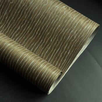 Chapa de madera de ingeniería Burl marrón con respaldo de lana