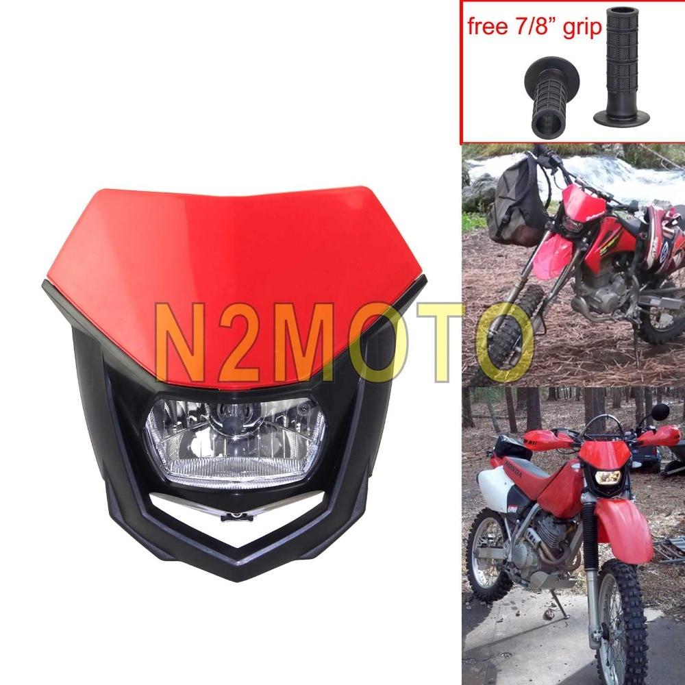Rouge Honda Suzuki Phare De Motocross Moto Yamaha Pour Kawasaki nymv08ONwP