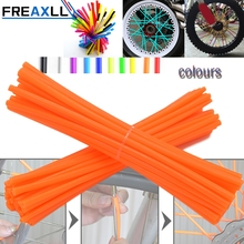 72Pcs/Pack Off-road Bike Wheel spoke skins Colorful Motocross Rims Skins Covers For  KAWASAKI 500 CR YZ RM KX Accessories