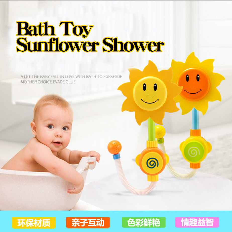1PCS Multicolour Bath Toy Funny Water Game Sunflower Shower Faucet Baby Bath Spout Play Swimming Bathroom Toys Summer Bathing