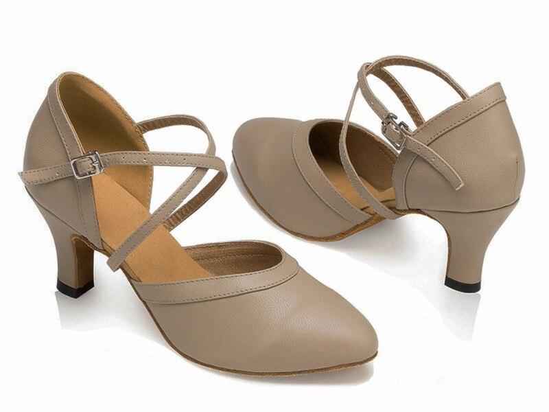 Movefun blanc haute qualité mariage bout fermé chaussure de danse salle de bal Salsa Latin Tango Bachata chaussures de danse femmes talons 5 6 7 8 cm