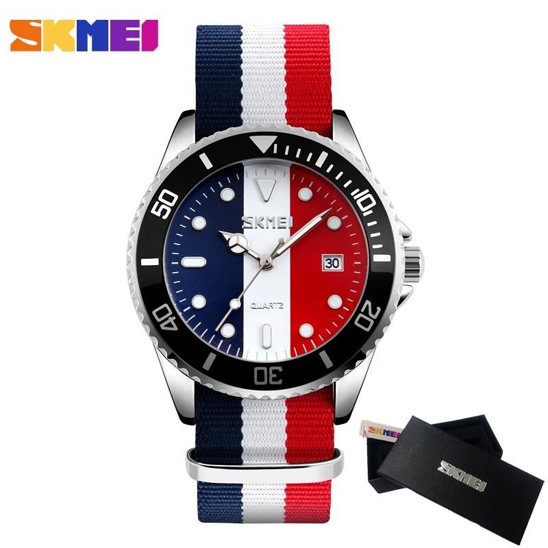 2017 New SKMEI Watches Men Luxury Brand Male Clock Quartz Watch Fashion  Classical Nylon Men Wrist Watch Relogio Masculino