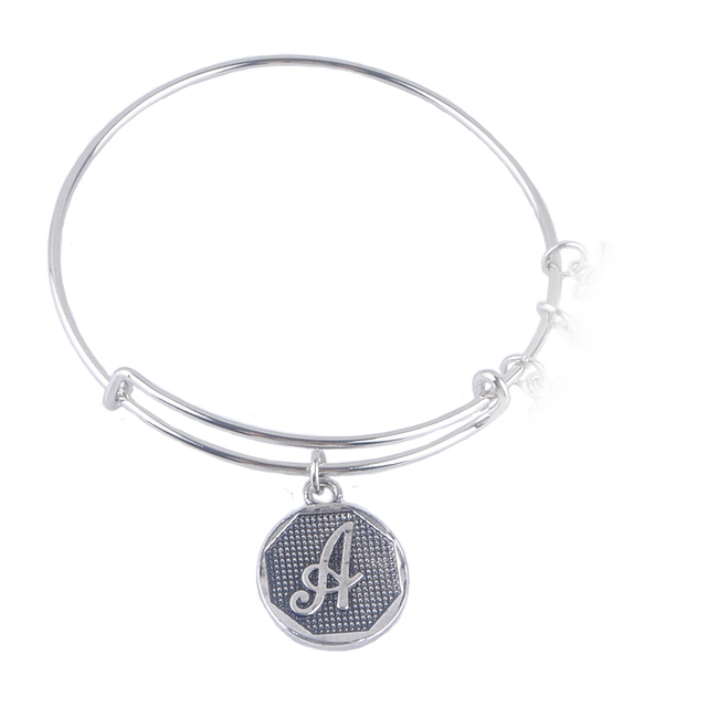 A-Z Initial Letter Antique Silver Plated Bracelets
