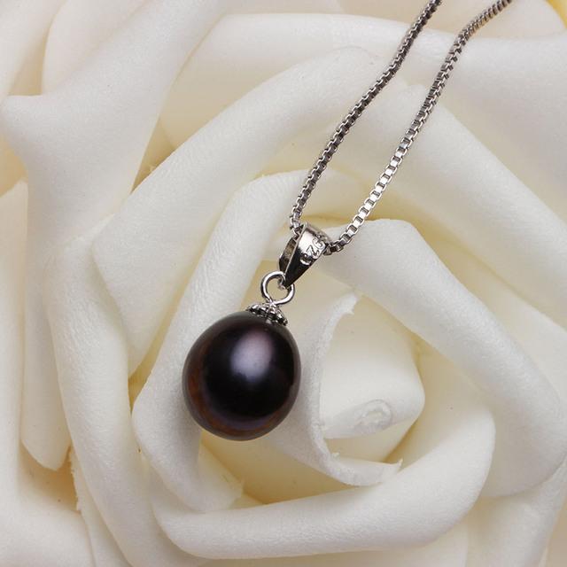 Dainashi Hot women water drop white, pink, purple, black pearl long earrings pendant elegant sets with fine 925 silver in party