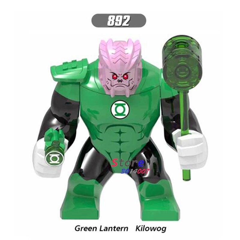 Single Big Size Marvel Green Lantern Kilowog Thanos Venom Carnage Batman Cull Obsidian Wolverine Figures Building Blocks Toys