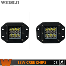 WEISIJI 2Pcs/Set 18W LED Work Light with CREE Chips Waterproof IP67 for Jeep SUV ATV Train Truck Boat 4.8in LED Driving Lights