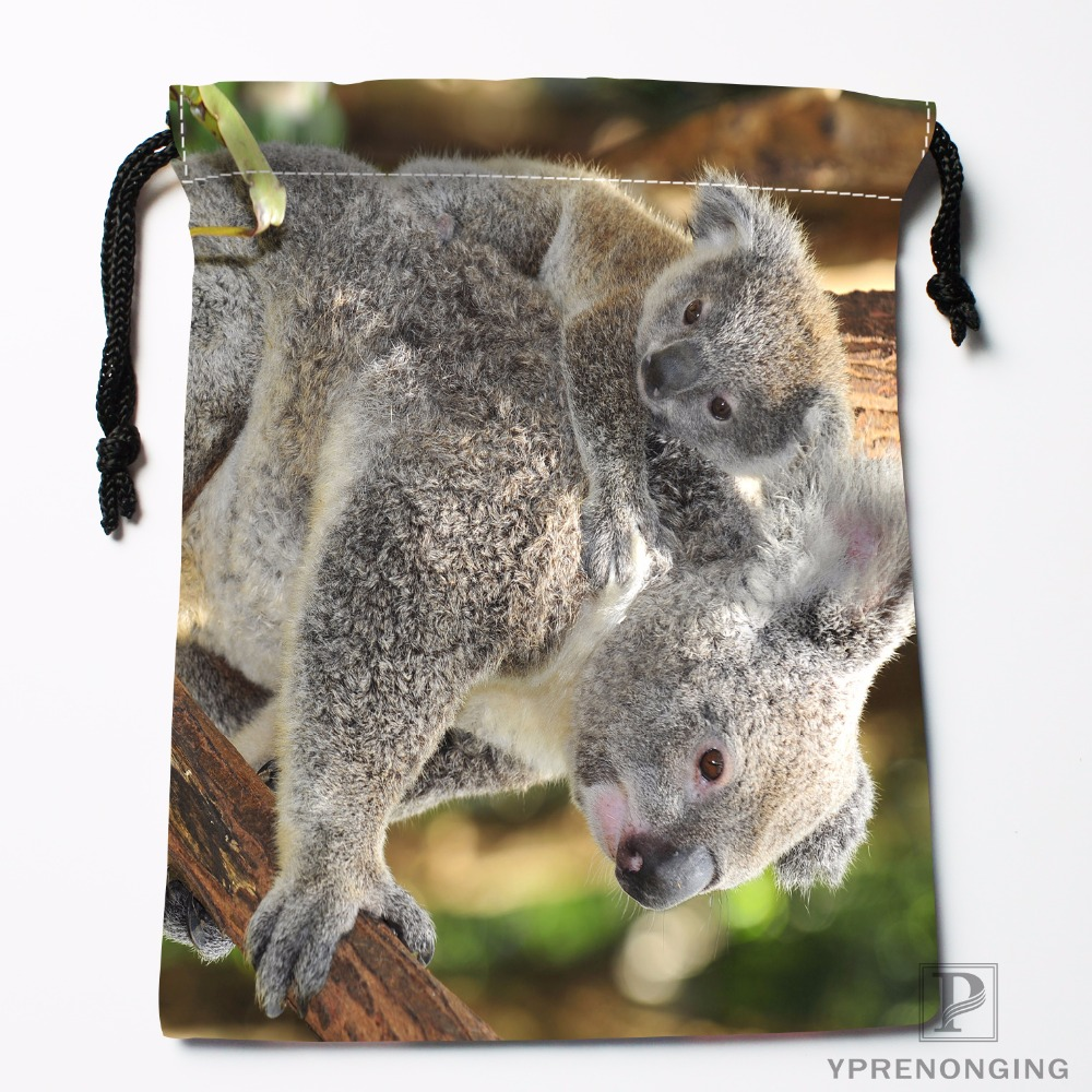 Custom Sleeping Koala Drawstring Bags Travel Storage Mini Pouch Swim Hiking Toy Bag Size 18x22cm#0412-03-35