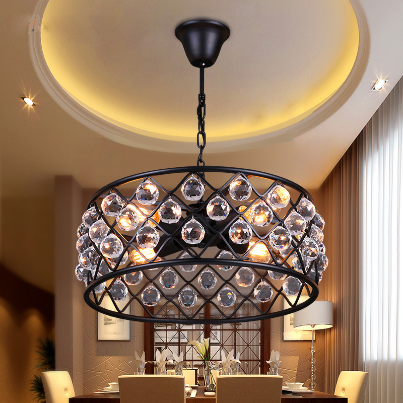 Z Loft American Crystal Pendant Lamp Retro Iron E27 LED Droplight Creative Country for Living Room Restaurant Bar Shop Art Lamp antique birdcage handle knob bronze drawer dresser knob pull black birdcage kichen cabinet handle knob furniture hardware knob