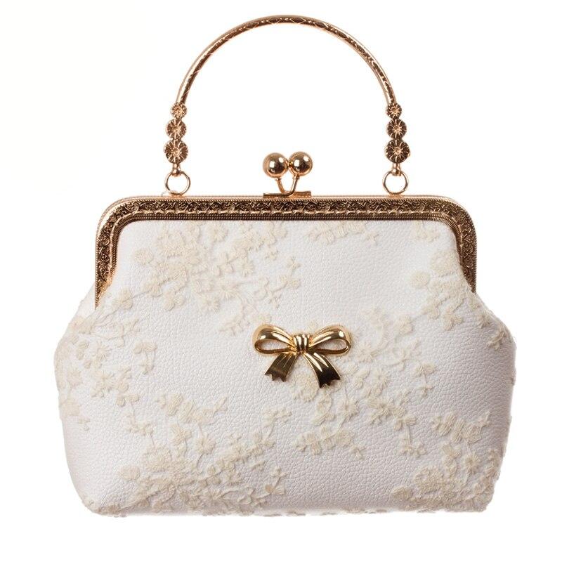 Sacs de Messsenger de haute qualité pour femmes 2 sacs de femmes blancs disponibles 2016 sacs de Messenger de mode avec un joli nœud