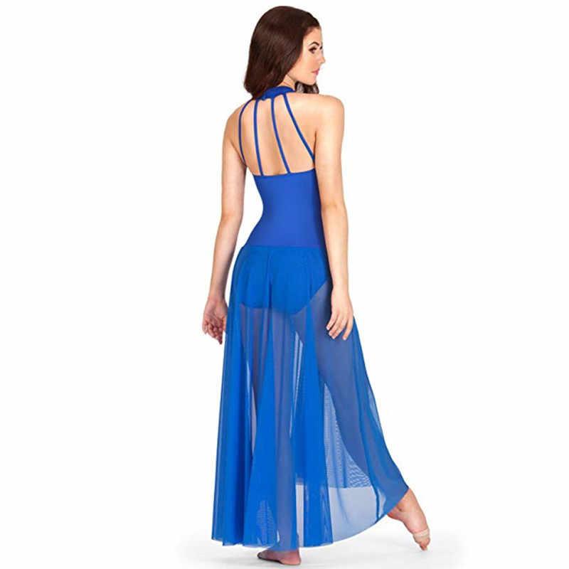 Женское платье на взрослого танцевальный балетный современный купальник балетный комбинезон-боди с юбкой из сетки макет шеи балетные трико для женщин
