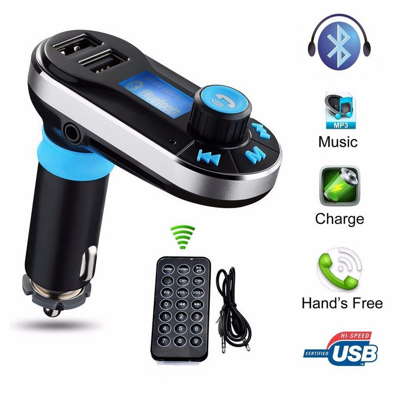 Image 5 - Bluetooth Car FM Transmitter Supports Dual USB SD AUX Auto MP3 Player For Smartphone Charging Built in Microphone-in Car MP3 Players from Automobiles & Motorcycles