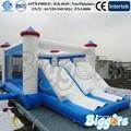 Mini Indoor Trampolim Inflável Com Slide Para O Partido
