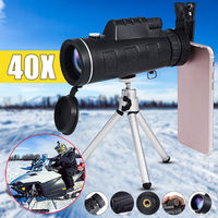 40X60 Monocular Zoom Optical Lens Telescope +Universal phone Clip+Photo Tripod For HTC For Blackberry For HUAWEI For Sony