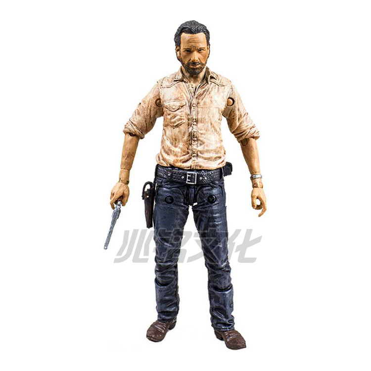 NEW hot ! 15cm The walking dead 5 zombies Rick Daryl action figure toys  doll toy