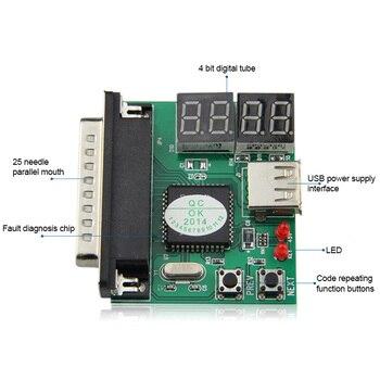 With USB Power Line Computer Motherboard Diagnostic Parallel Port 4 Test Card Desktop Test Card 8 99 SL@88