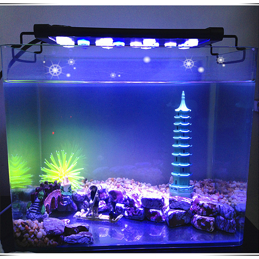91CM  LED aquarium lights blue and white two-color design of the third gear professional plant growth lights Aquarium lights