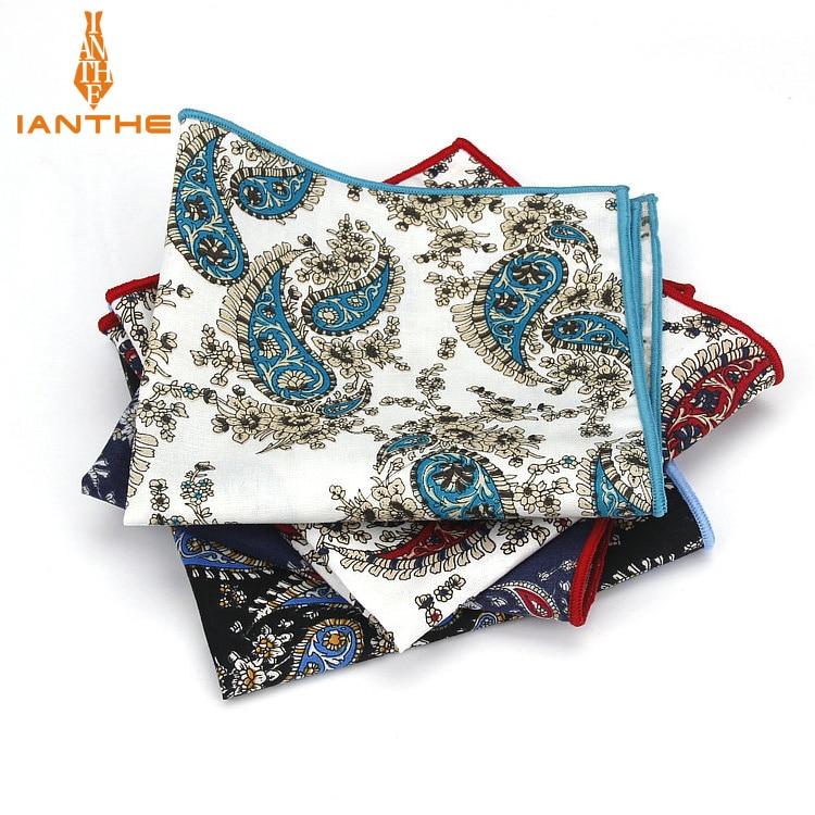 Paisley Printed Handkerchief Wedding Hanky For Mens Suit Pocket Square Casual Business Tie Set Handkerchiefs 25*25 Cm Towel