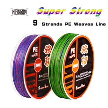 Kingdom fishing line 150m 9 Strand Weaves PE Braided 15LB 20LB 25LB 35LB 40LB 45LB 50LB 60LB 65LB line multifilament for fishing