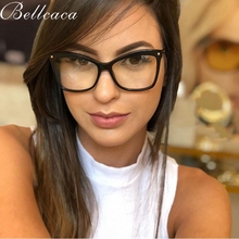 Bellcaca Optical Eyeglasses Frame Women Fashion Prescription Spectacles Simple Finished Glasses Frames Clear Lens Eyewear BC807