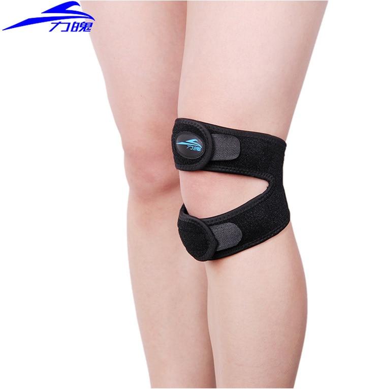 Prix pour Leesport basket - ball genouillères brace pain relief volleyball rotule Massage kneepad respirant genou Support de protecteur