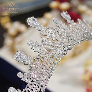 Image 4 - Bavoen Fashion CZ Crystal Brides Crown Tiara Princess Headband For Brides Wedding Hair Accessories Evening Hair Jewelry