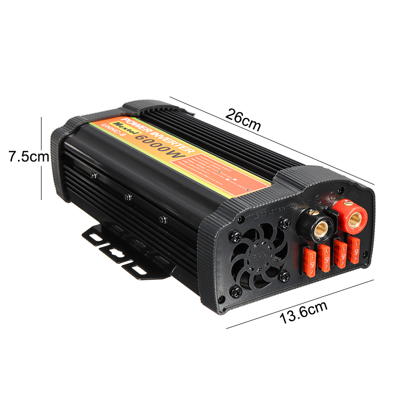 Inverter 6000W 12 V to AC 220 Volt LCD Digital Max 12000 Watt Modified Sine Wave Converter Car Charge Converter Transformer USB - 6
