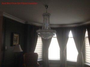 Image 4 - Phube oświetlenie imperium francuskie złoty kryształowy żyrandol chromowane żyrandole oświetlenie nowoczesne żyrandole światło + darmowa dostawa!