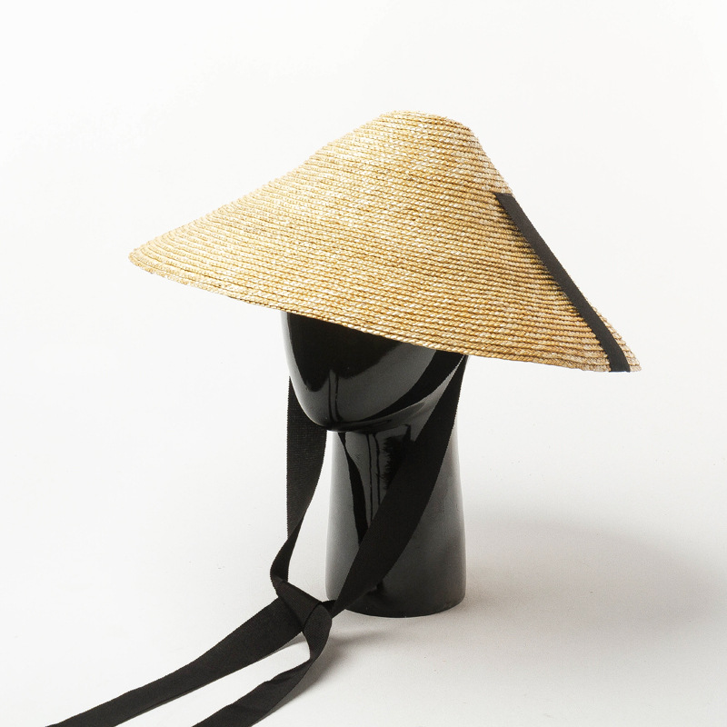 01901-hh7320 2019 Hand-woven Bamboo Hat Modeling Fashion Model Show Cap Men Women Leisure Holiday Beach Hat