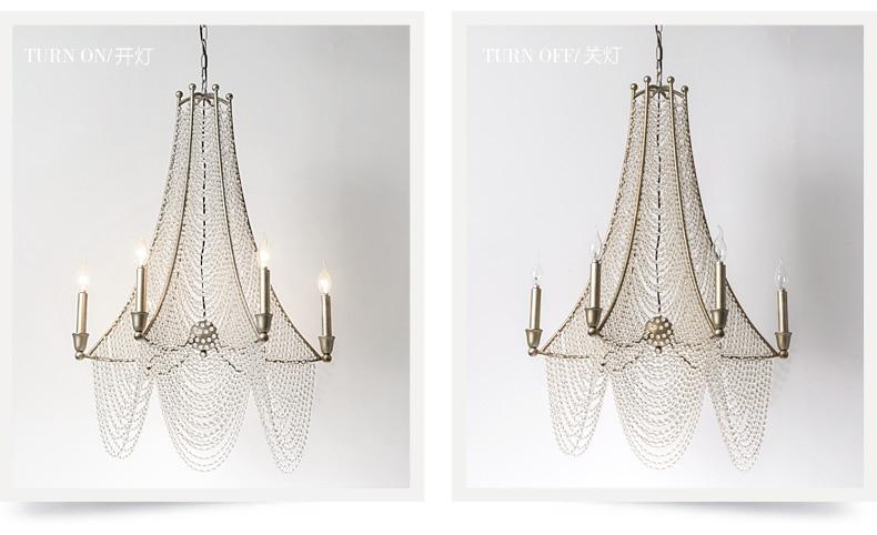 Candelabru de cristal Țara americană Lustre vechi Lustre de cristal - Iluminatul interior - Fotografie 5
