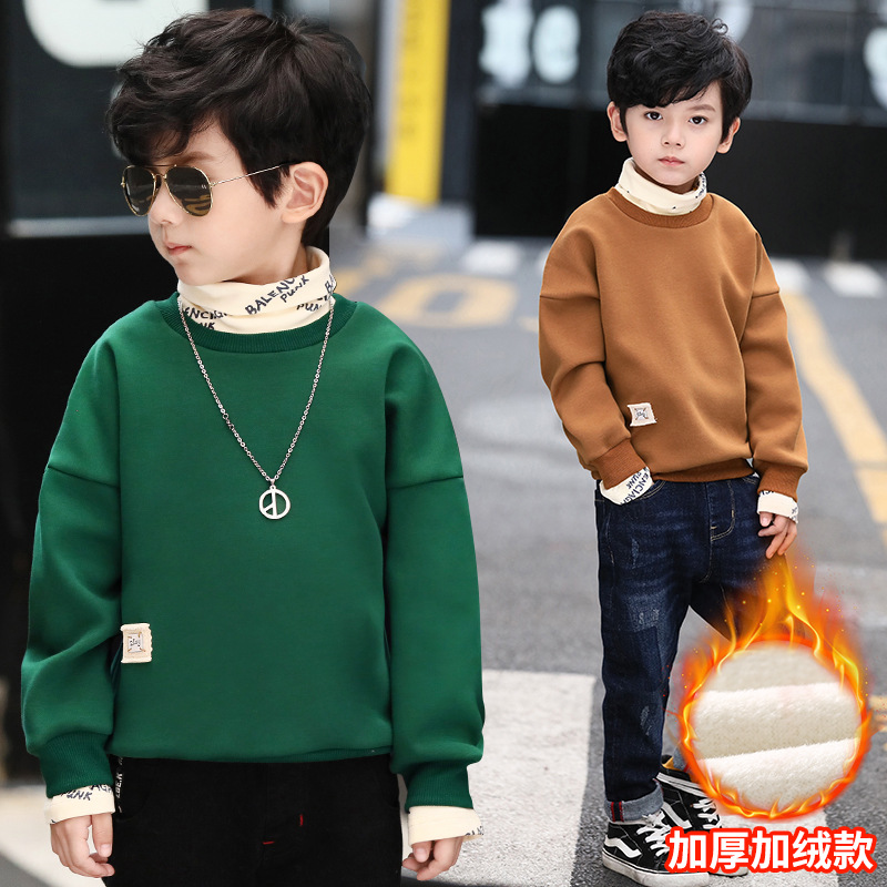 Boys Girls Hoodies & Sweatshirt 2018 Winter Warm Plush Hoodies Kids Outwear Baby Children Clothing Kids Jacket Boys Hoodies