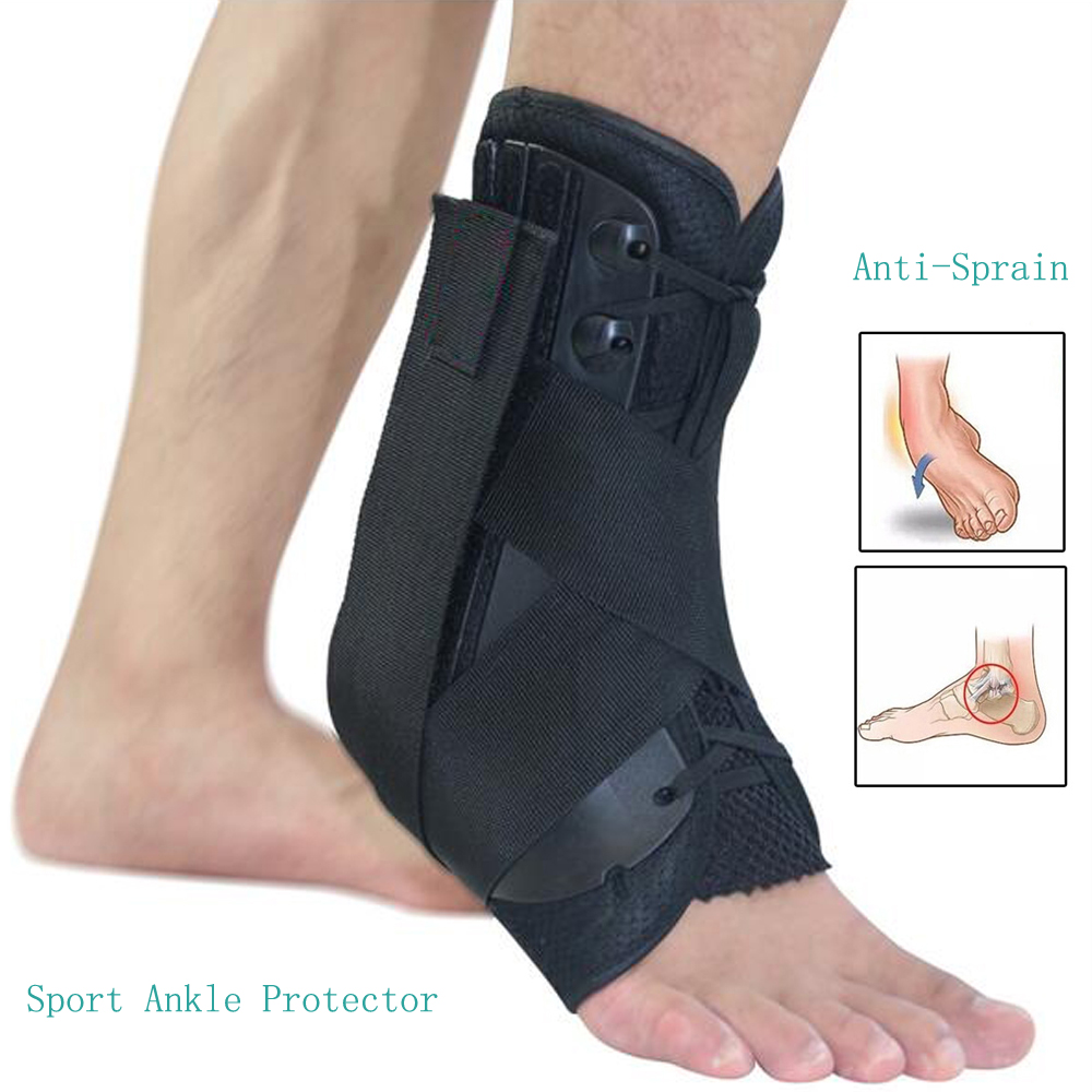 Ankle Brace Support Sports S/M/L Size Adjustable Straps Ankle Sports Support drop Foot brace Orthosis Stabilizer Ankle Protector shuoxin sx662 sports basketball elastic ankle foot brace support wrap black