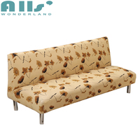 Yellow Leaves Sofa Bed Covers For Living Room Universal Armless Couch Sofa Covers Elastic Furniture Slipcovers