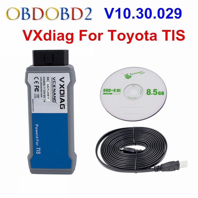 For TOYOTA TIS VXDIAG VCX NANO OBD2 Diagnostic Scanner VXDIAG USB/WIFI Version For TIS Techstream V10.30.029 Supports SAE J2534 мастурбатор nano toys nano