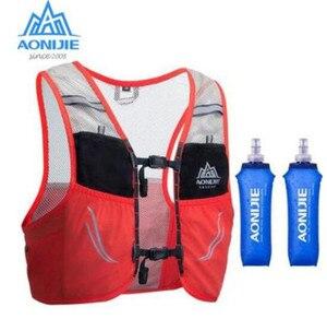 Image 2 - AONIJIE 2.5L Outdoor Leichte Trink Rucksack Rucksack Tasche Weste Wandern Camping Lauf Marathon 500ML Weiche Glaskolben