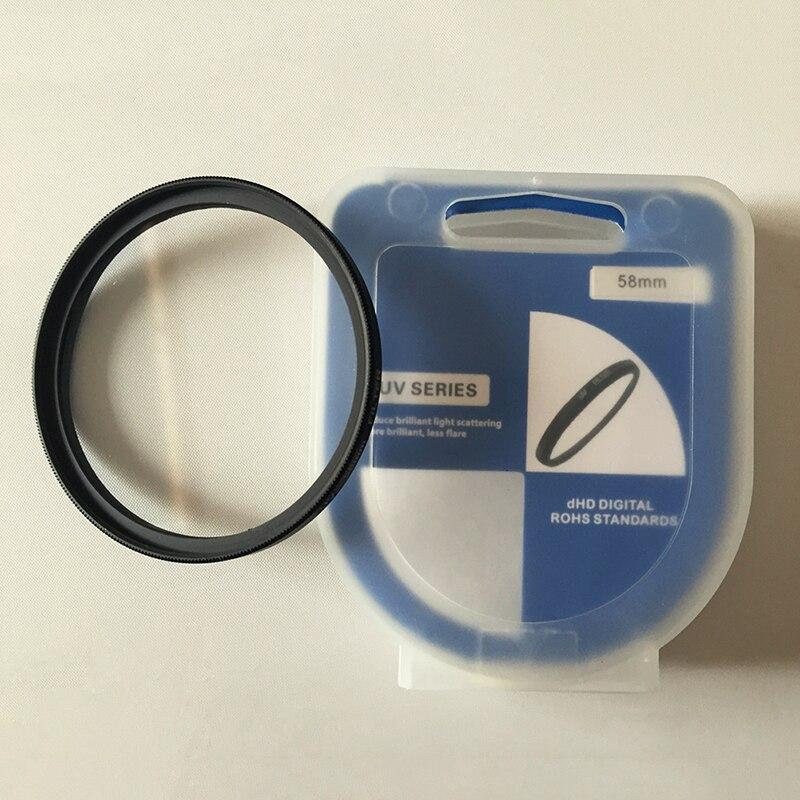 Cámara filtro UV estrella Color de lente 49 52 55 58 62 67 72 77 mm para Nikon Canon EOS 7D 5D 6D 50D 60D 600D d5200 d3300 d3200 T5i