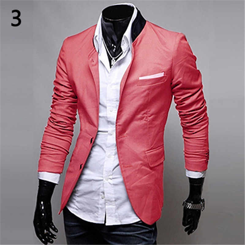 8ca859270a Men Wedding Suit Male British Style Office Casual Two Buttons Pocket Slim  Fit Suit Coat Jacket